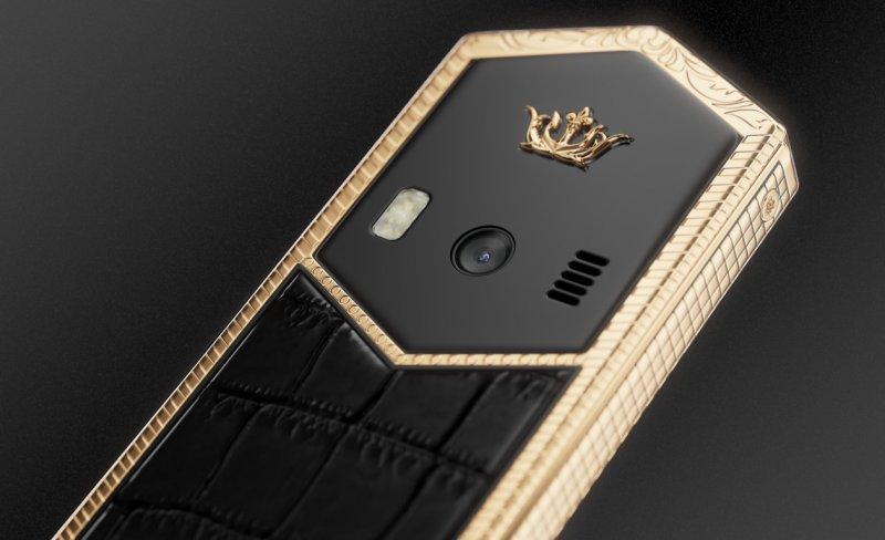 В России появился православный телефон из золота  Владимир, древнерусский стиль, золото, крест, православный, телефон