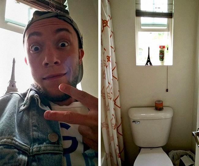 Туалетная поездка в Париж instagram, красотки, ложь, правда, фотографии, фотошоп