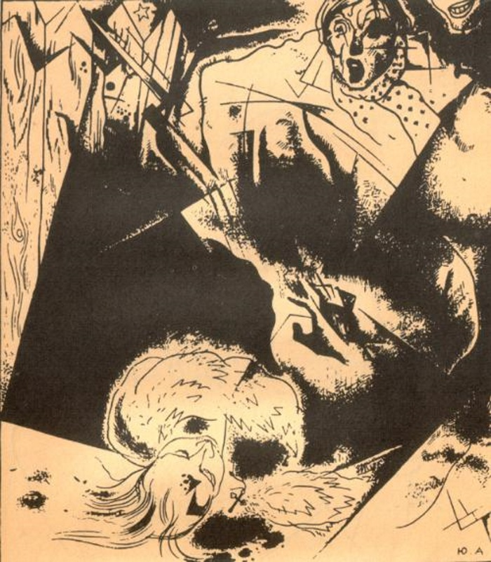 """""""Двенадцать"""", иллюстратор  Юрий Анненков, 1918 год"""