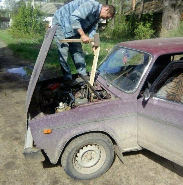Деревенский ремонт авто