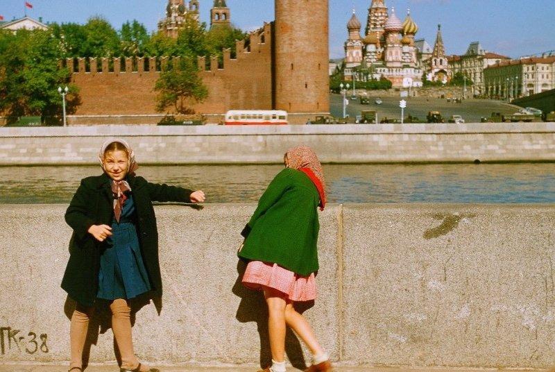 Москва, СССР, 1956 год. Набережная