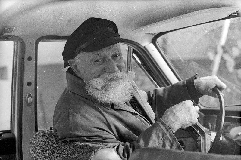 Старейший московский таксист, 1970-е Стешанов, люди, снимки, ссср, фото, фотограф