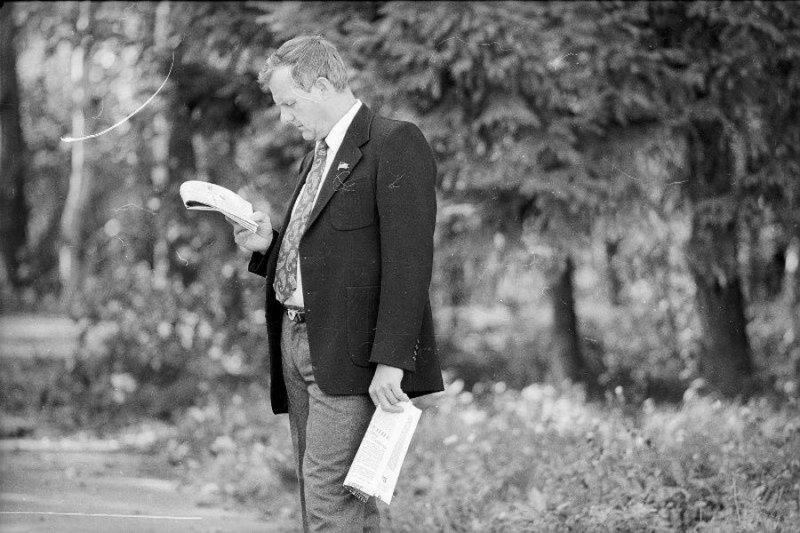 Мэр Санкт-Петербурга Анатолий Собчак. Санкт-Петербург, 1990-е годы Стешанов, люди, снимки, ссср, фото, фотограф