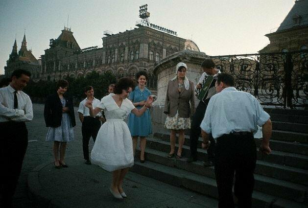 Выпускники на Красной площади, 1964 60-е, история, ссср, фото