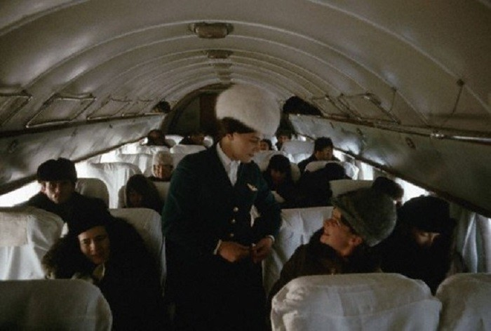 Стюардесса Тамара на Ил-14. Рейс Иркутск – Якутск, 1966 60-е, история, ссср, фото