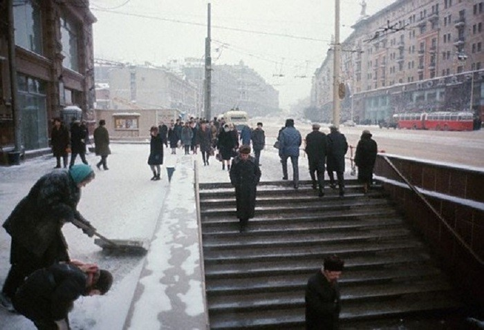 Улица Горького в Москве, 1966 60-е, история, ссср, фото