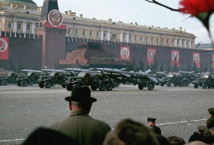 Военный парад на Красной площади, 1966 60-е, история, ссср, фото