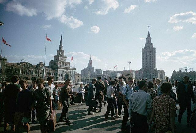 Комсомольская площадь, 1966 60-е, история, ссср, фото