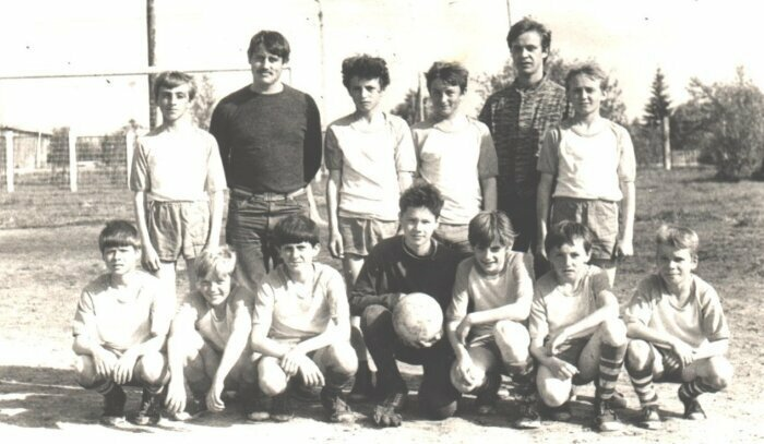 Футбольная команда города Микунь. Коми, 1987 год