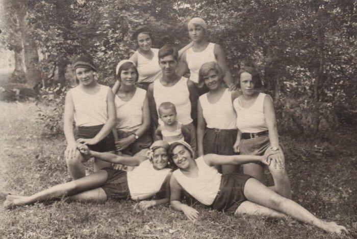 Секция плавания. Ленинград, 1929 год