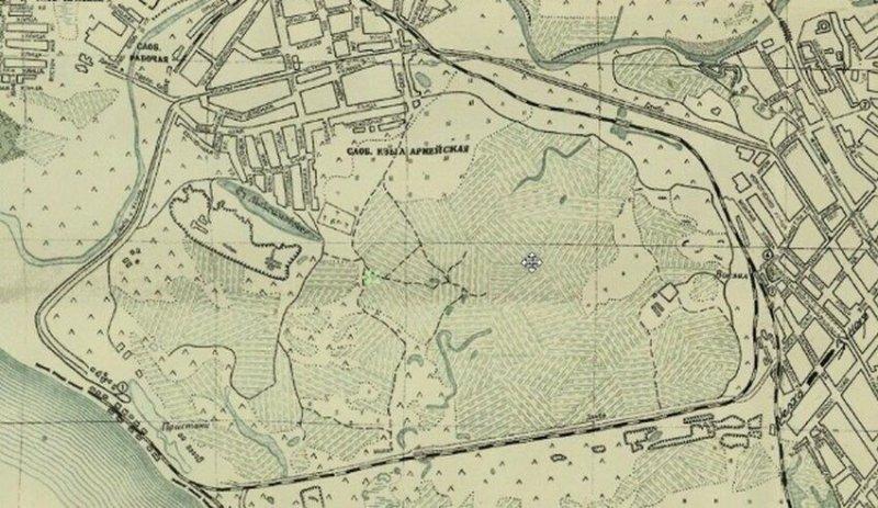 Это место на старинной карте выглядело раньше так