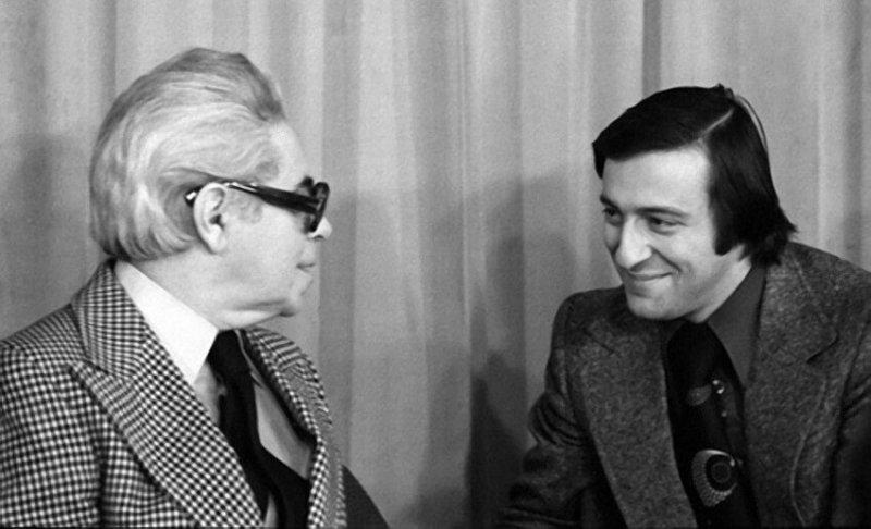 Аркадий Райкин и Геннадий Хазанов, 1978  год