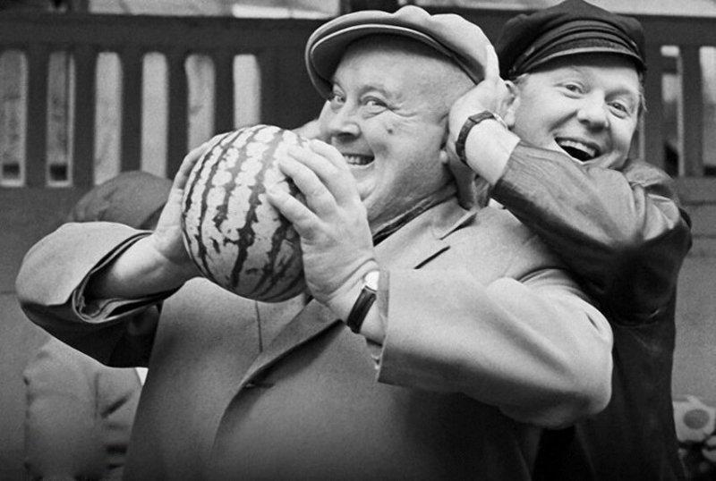 Олег Попов и Евгений Моргунов, 1968  год