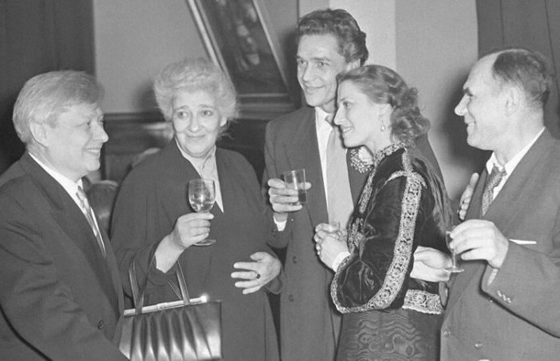 Сергей Образцов, Фаина Раневская, Майя Плисецкая, 1955  год