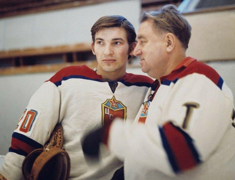 Владислав Третьяк и Анатолий Тарасов, 1972 год
