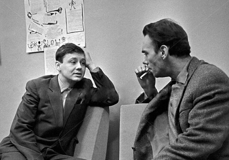 Алексей Баталов и Олег Табаков, 1962 год