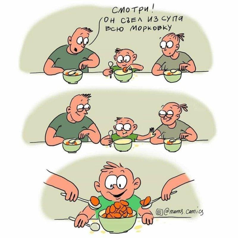 Московская художница рисует забавные комиксы про жизнь родителей