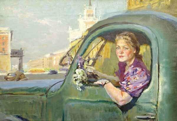 """""""Женщина за рулем"""", В. Поляков"""