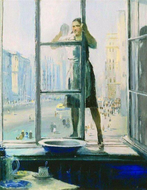"""""""Весеннее окно"""", Ю. Пименов"""