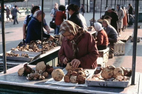 Продажа грибов, Ленинград, 1979 год