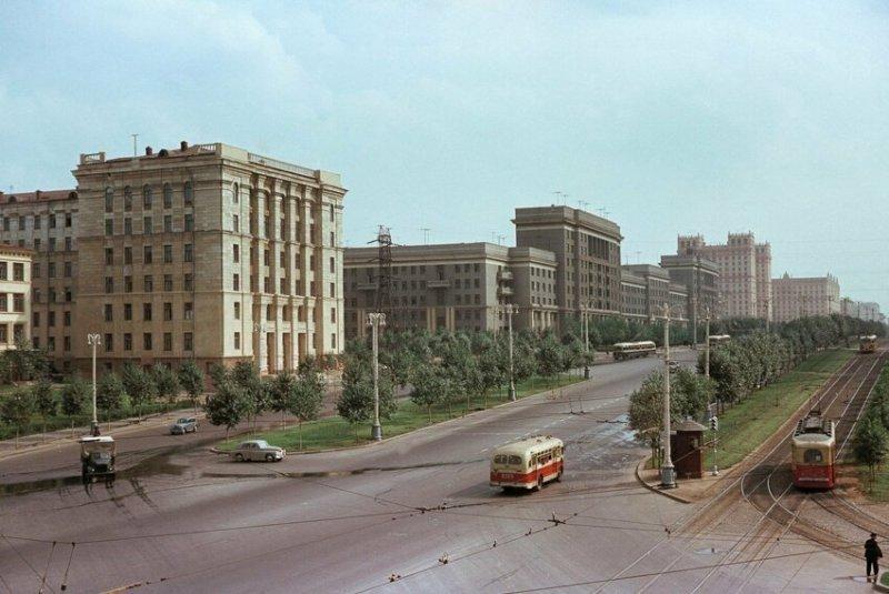 Ярославское шоссе в Москве, 1959 год история, союз, ссср, фото, эпоха