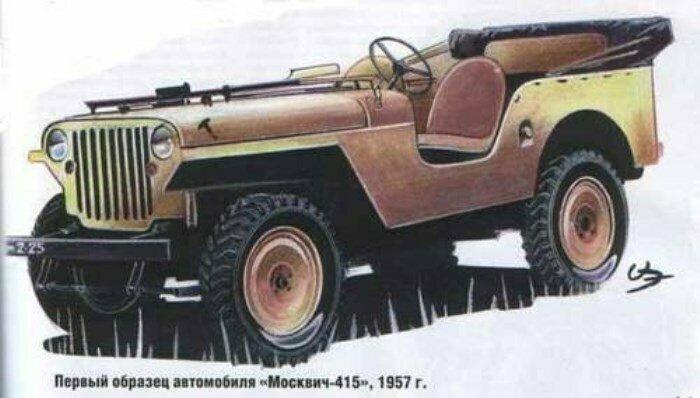 Москвич 415 от 1957 года