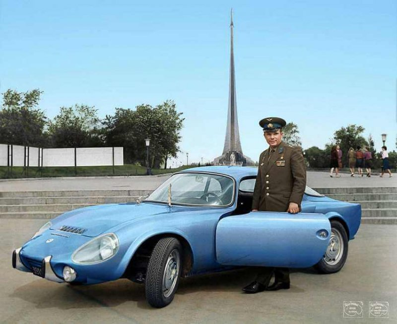 Юрий Гагарин и его Matra-Bonnet Djet VS Coupe, 1965 год