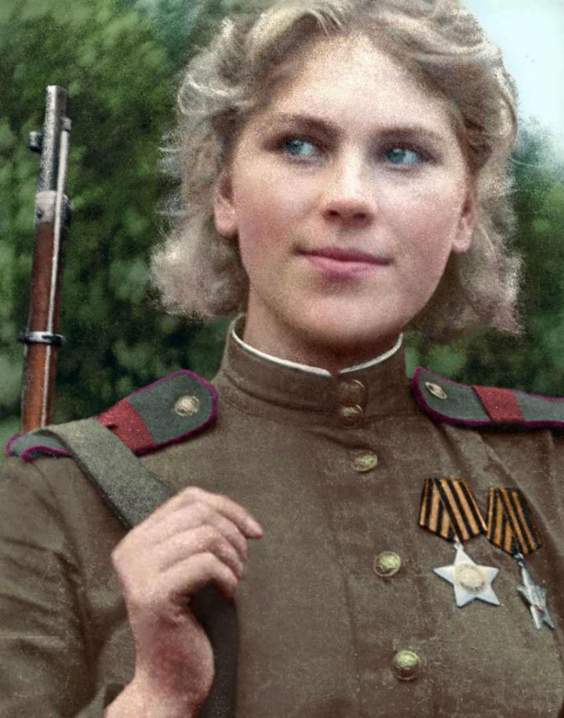 Советский снайпер Роза Шанина