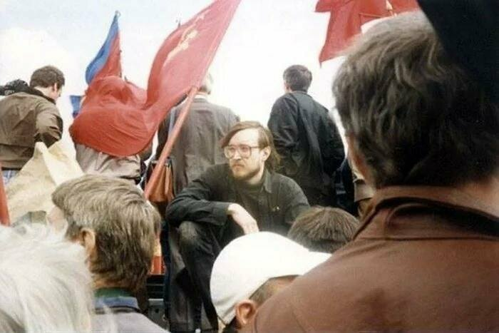 Егор Летов на первомайском митинге в Москве
