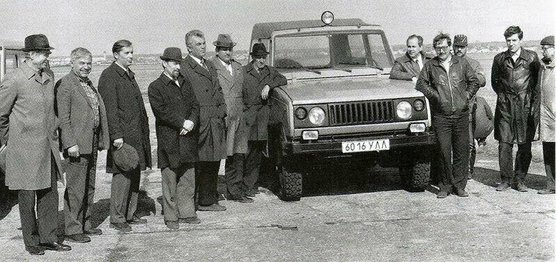 Руководство завода УАЗ на сравнительных испытаниях УАЗ-3171 и L-R 90