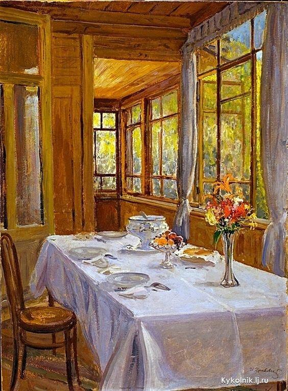 Русские интерьеры на картинах