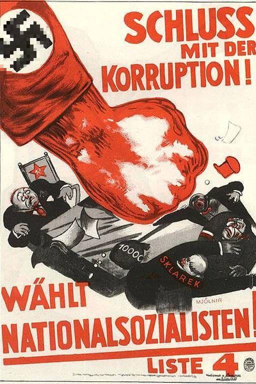 Немного плакатов от фашистов, пропагандирующих освобождение от кровавого коммунистического гнета