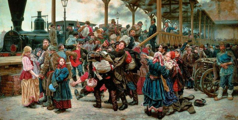 Константин Савицкий На войну. 1888
