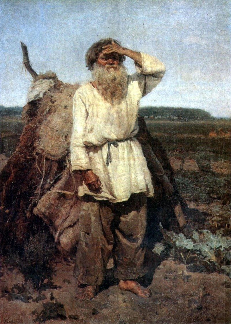 Старик-огородник, Суриков, 1882