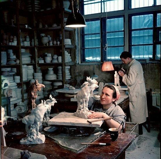 Трудоемкая работа в студии, Москва, 1950