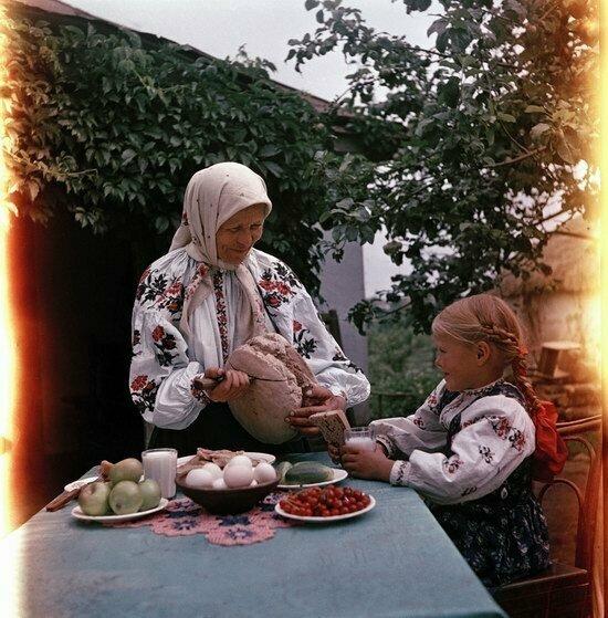 Завтрак в украинском селе