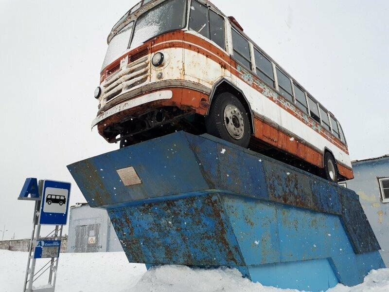 Воркута, памятник автобусу