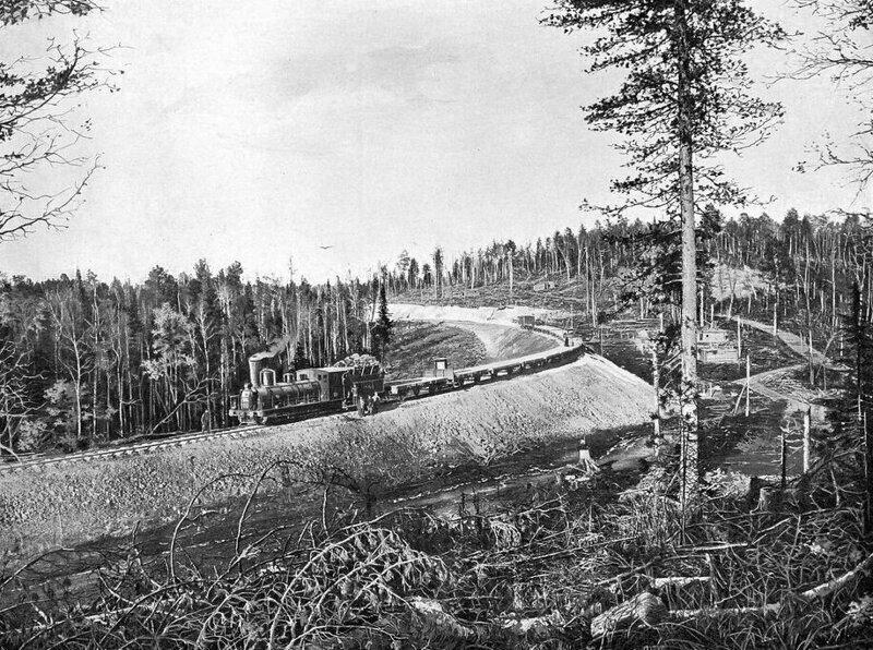 Вид железнодорожной линии на 653-654 версте