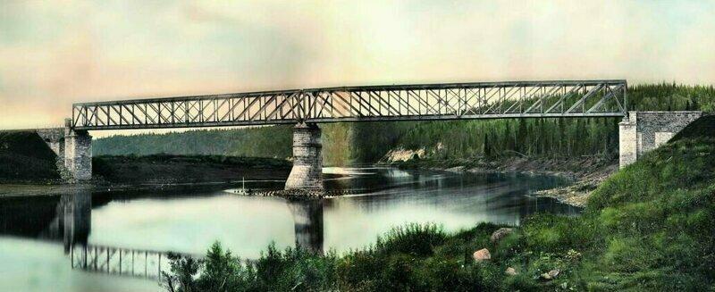 Горнозаводская железная дорога. Мост через реку Сылва