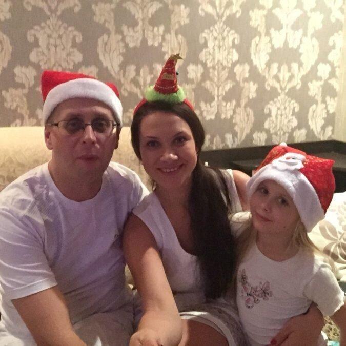 Андреева с семьей