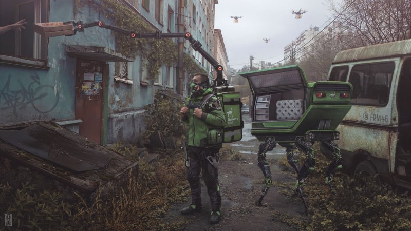 Дизайнер представил, какой станет Россия, если пандемия продлится еще 50 лет