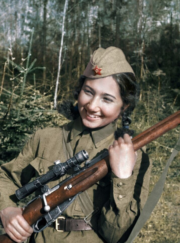 Ганиева Зиба – снайпер