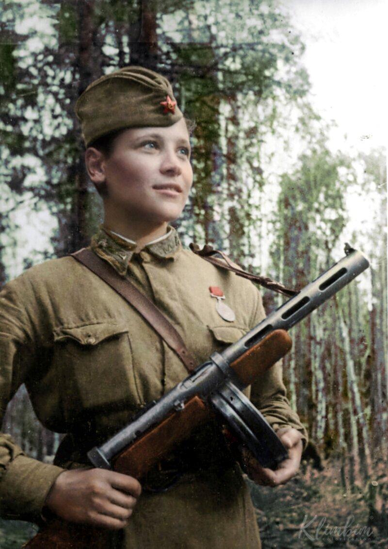 Карцева Любовь Иосифовна - санинструктор, разведчик 6-й отдельной гвардейской разведывательной роты 3 гвардейской стрелковой дивизии