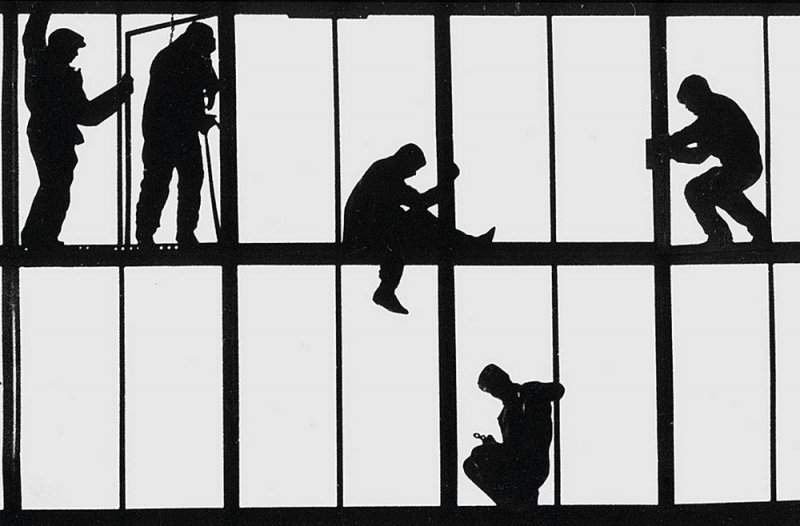 Монтажники. Завод Азовсталь. Жданов, 1973 год