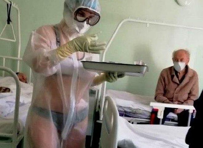 В Самаре прошел флешмоб в защиту медсестры в бикини