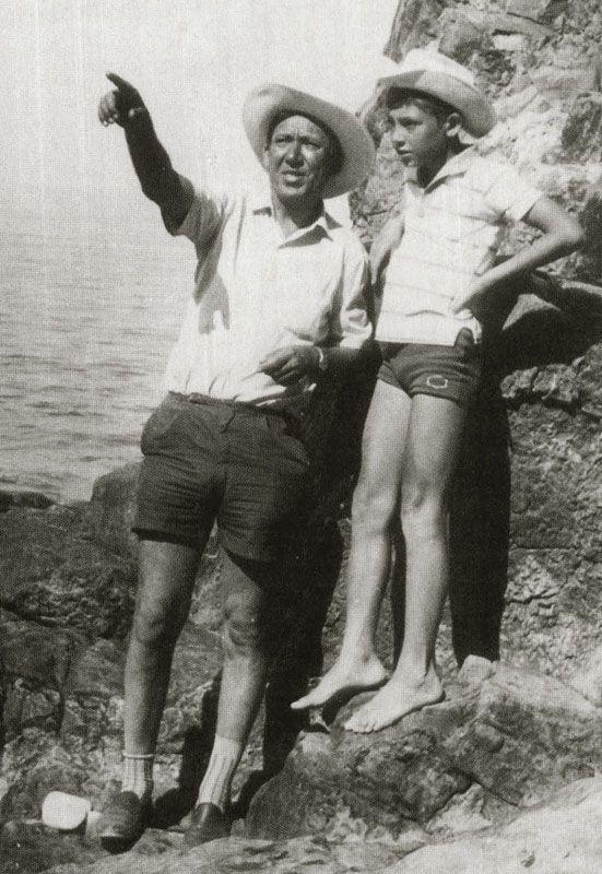 Никулин с сыном на море