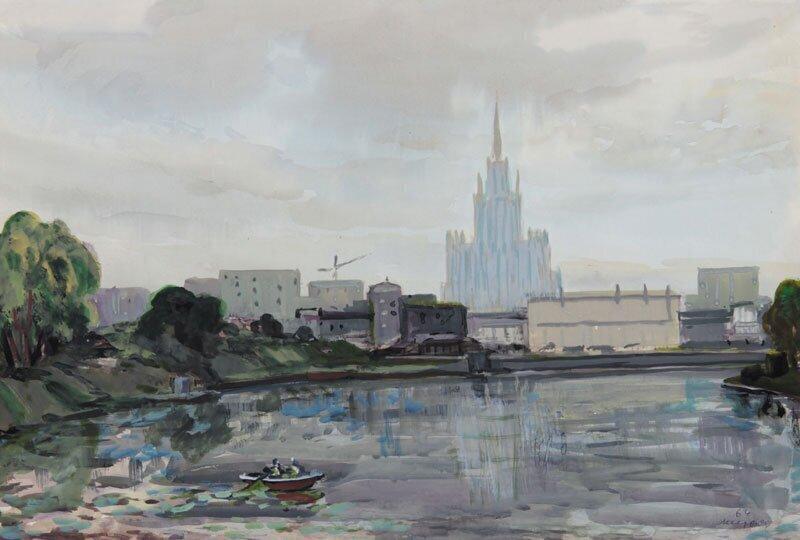 «Вид на здание МГУ»