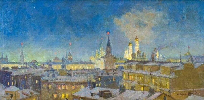 «Москва ночью при луне»