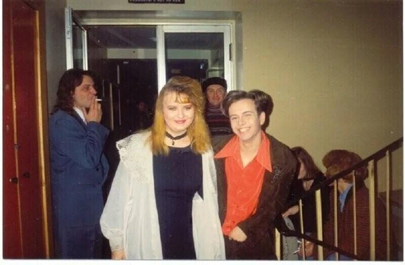 Андрей Губин со своей фанаткой, 1995 год
