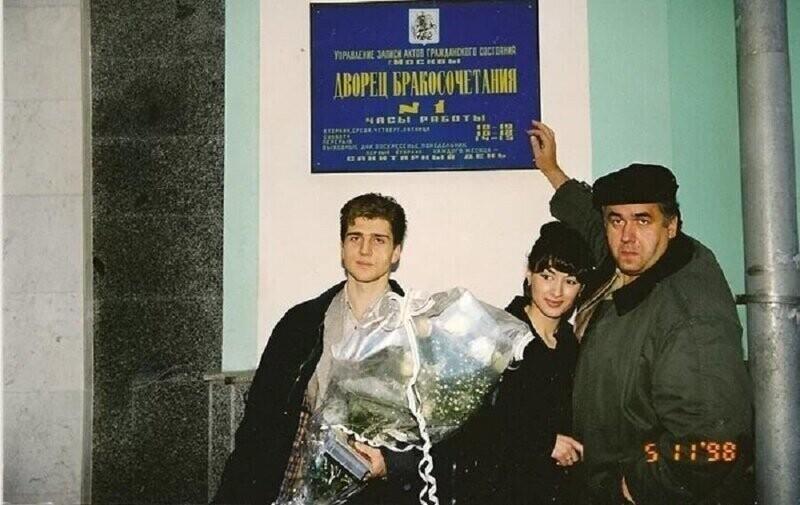 Станислав Садальский на дне регистрации брака Тины Канделаки и Андрея Кондрахина, 1998 год
